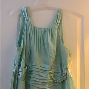 Mint Green David's Bridal Bridesmaid Dress